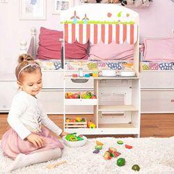 Детская деревянная кухня с аксессуарами EcoToys CA04063