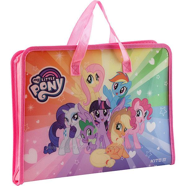 Портфель папка на молнии My Little Pony A4 - Kite LP19-202