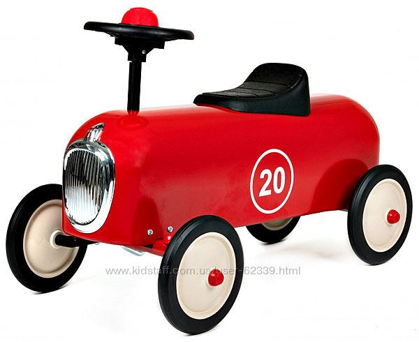 Винтажная машинка-каталка Baghera Racer, красная - арт. 815