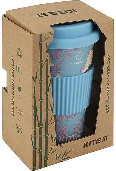 Бамбуковый стакан Gapchinska, 440 мл, голубой Kite K19-506