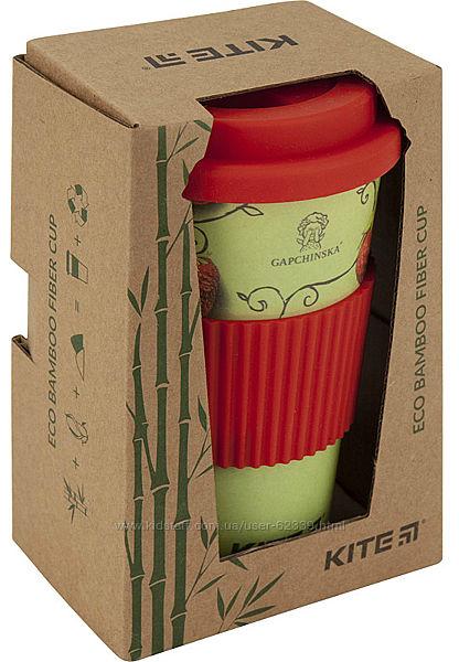 Бамбуковый стакан Gapchinska, 440 мл, красный клубнички - Kite K19-505