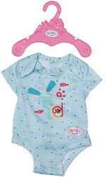 Одяг для ляльки Baby Born Боді, блакитне - арт. 830130-2