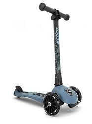 Самокат Highwaykick-3 Scoot and Ride со светящимися колесами, серо-синий