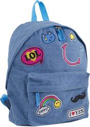 Стильный молодежный рюкзак ST-15 Jeans LOL YES 553921