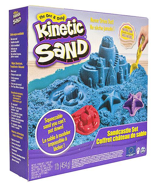 Кинетический песок Kinetic Sand Замок из песка - голубой арт. 71402B