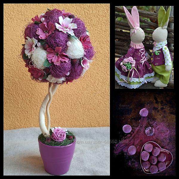 Топиарии дерево счастья фиолетовые