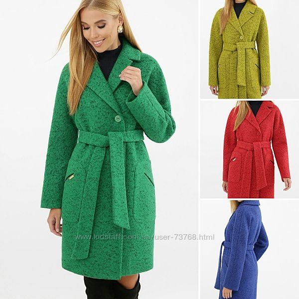 Пальто кимоно халат оверсайз яркое шерсть