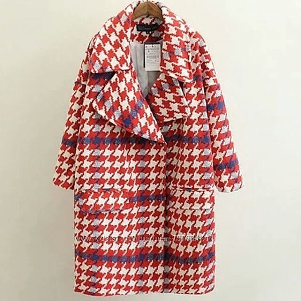 Женское демисезонное пальто бойфренд яркая лапка размер XS-S