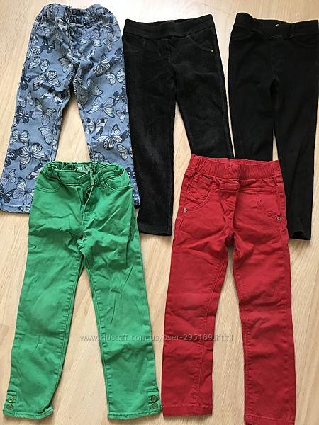 Комплект джинсы и легинсы на 4-5лет