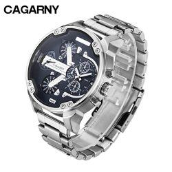 Часы CAGARNY наручные мужские кварцевые с 2 циферблатами
