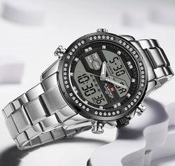 Наручные мужские часы NAVIFORCE с хронографом и двойным дисплеем