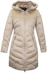 Женский зимний бежевый пуховик salco зимнее пальто