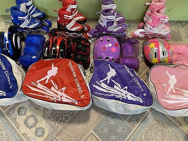 Набор ролики Maraton , защита и шлем, в сумке