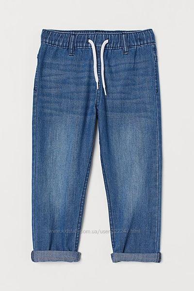 Джинсовые джоггеры штаны джинсы H&M 9-10 лет рост 140 см Denim Joggers