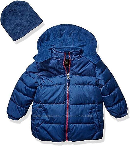 Зимняя куртка на флисе ixtreme с шапкой для мальчика на 2-3 года 3T