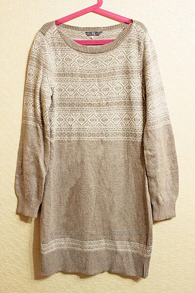 Жаккардовое платье туника скандинавский стиль 146-152 11-12 лет