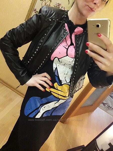 Куртка курточка косуха кожаная кожа натуральная Bebe М-Л