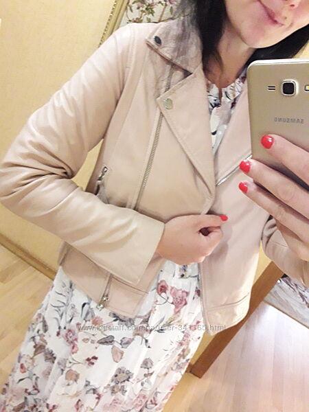 Куртка кожаная натуральная кожа Mango Zara