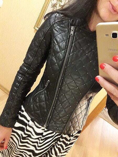 куртка кожаная натуральная кожа Zara Mango