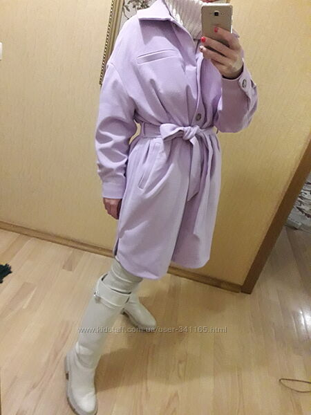 Пальто оверсайз в стиле куртка - рубашка  Zara mango reserved