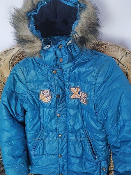 Куртка зимняя на мальчика Бембі КТ 107 рост 140