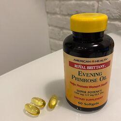 Масло примулы вечерней American Health, 60 капс. , США