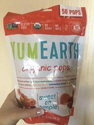 Органические леденцы на палочке YumEarth, 50 шт, поштучно