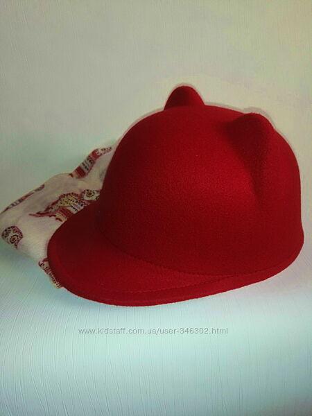 Фетровая кепка на девочку б/у