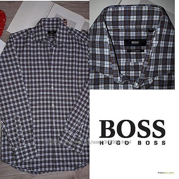 Hugo Boss Рубашка в клетку р 15. 539 сток Оригинал.