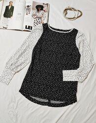 Волшебная  блузка с пышным рукавом NEXT UK 10 EUR 38