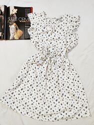 H&M чудесное белое платье в цветочный принт EUR 40