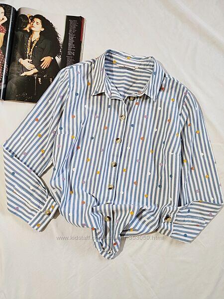 TU коттоновая рубашка в полоску UK 14
