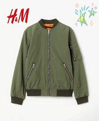 Куртка бомбер для мальчика, хаки H&M 11-12лет