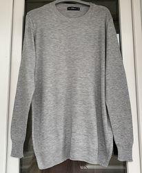 Zara базовый серый джемпер размер М