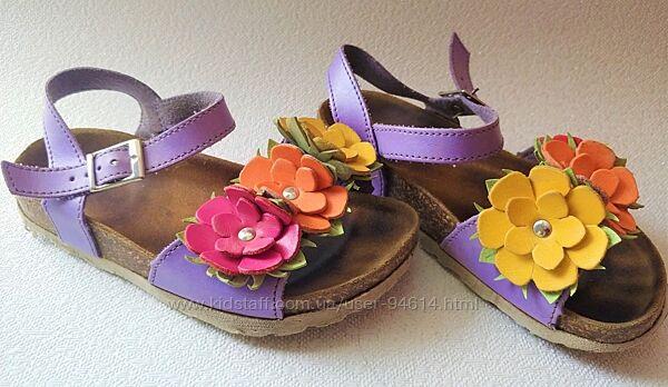 Кожаные сандали на лето