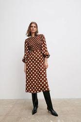 Платье Zara в горохи - S, M, L
