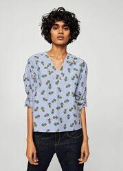 Хлопоковая блуза с принтом Mango - XS, S