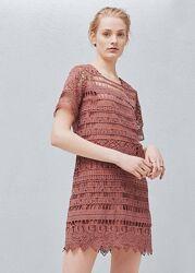 Короткое кружевное платье Mango - M