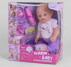 Пупс Baby беби борн с магнитной соской Warm baby 058 A-584