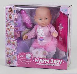 Пупс Baby беби борн с магнитной соской Warm baby 057 A-580