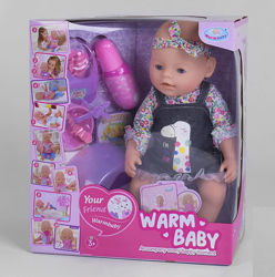 Пупс Baby с магнитной соской Warm baby 058 A-590