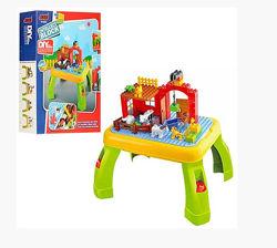 Столик с конструктором JIXIN Ферма 3588A