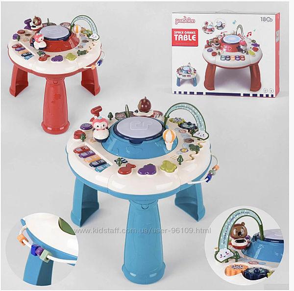 Детский развивающий музыкальный столик игровой центр Space games table 1102