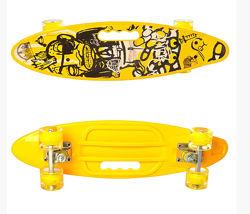 Скейт пенни борд Penny board колеса светятся 0461-2 Желтый