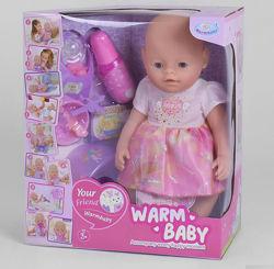 Пупс Baby Беби борн с магнитной соской Warm baby 058 A-033