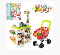 Игровой набор  Магазин супермаркет  с тележкой 2 цвета 668-01-03
