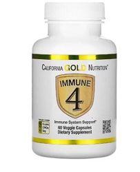 California Gold Nutrition, Immune4, средство для укрепления иммунитета, 60