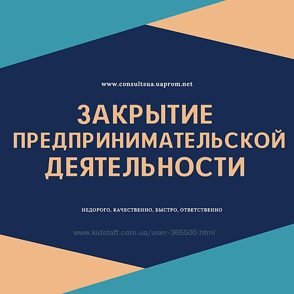 Ликвидация ФЛП, Закрытие ФЛП Днепр и область недорого