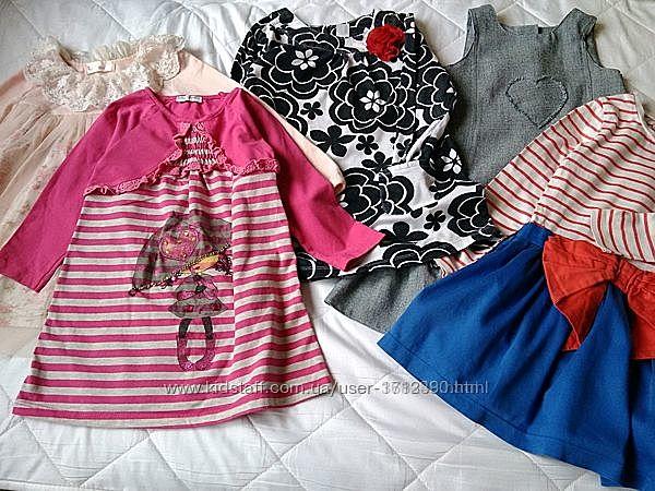 Платья для девочек. длинный рукав 2-3года. Платья в детский сад.