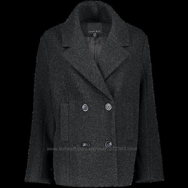 пальто укороченное полупальто жакет оверсайз 2 размера amisu